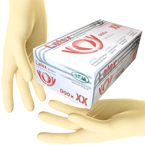 SFM ® BIOLIMES Latex gloves nonsterile powderfree white