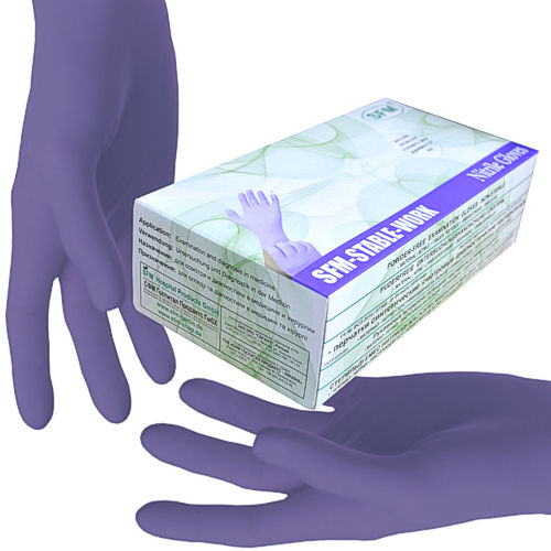 SFM STABLE WORK Nitrile gloves ACC-free powder free F-tex