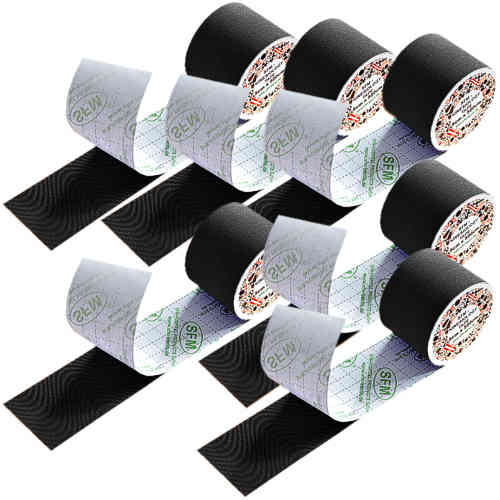 SFM ® Kinesiologische Tapes : cotton in Folie 5cmx5m schwarz (6)
