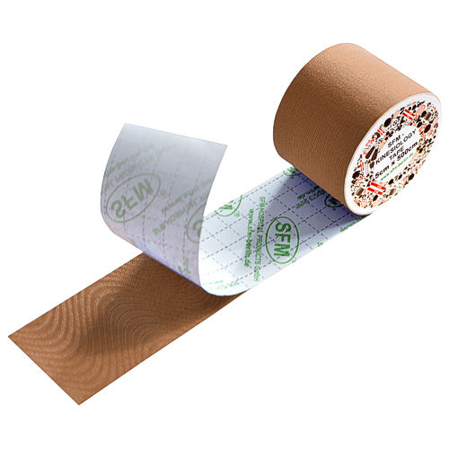 SFM Kinesiology Tape roll in plastic film 5cmx5m beige (1)