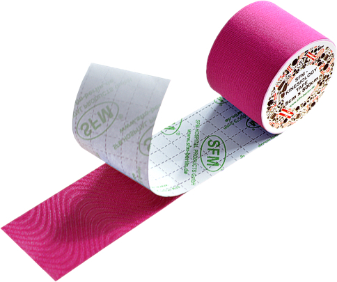 SFM ® Kinesiologie Tape : cotton in Folie 5cmx5m pink (1)