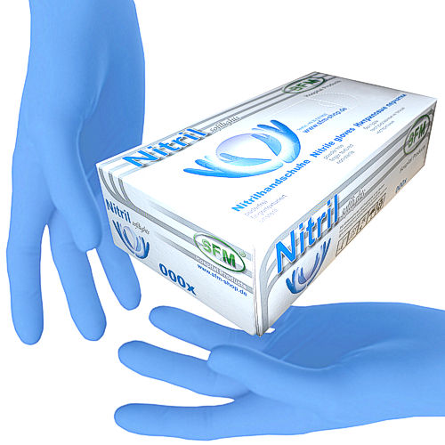 SFM ® SOFTLIGHTS Nitrile examination gloves pf F-tex