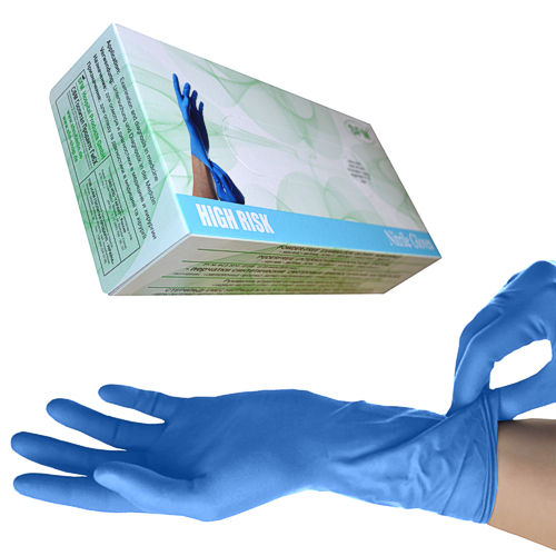 SFM ® HIGH RISK Nitrile gloves powder free blue